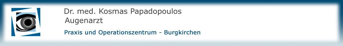 Dr. med. Kosmas Papadopoulos Augenarzt Burgkirchen Praxis Operationszentrum